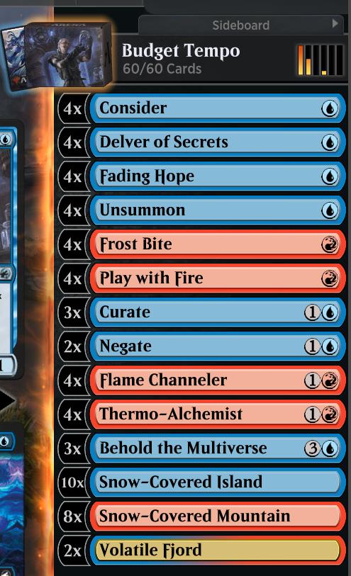 test Twitter Media - I didn't have any rare or mythic wild cards... so I made this. All commons and un-commons. Plays really well, focuses on getting threats to flip and clearing the board for swinging out.  #MTG #MTGArena https://t.co/vOPtL4U8B4