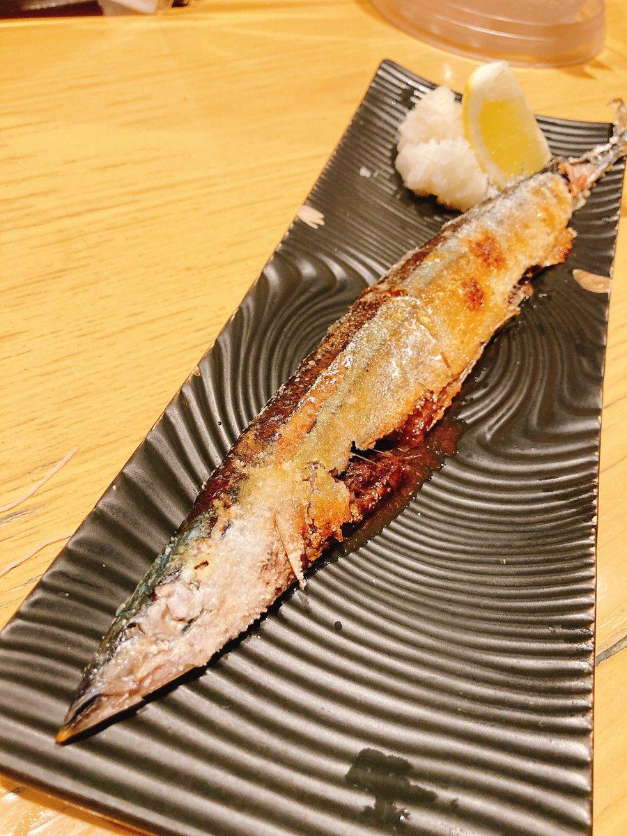 test ツイッターメディア - 結局秋刀魚の塩焼きをいただきました…てへ😋 いや、揚げ出し豆腐食べおわるちょっと前に山形正宗頼んじゃったので…(*´﹃`*) https://t.co/HGzWQek2e8