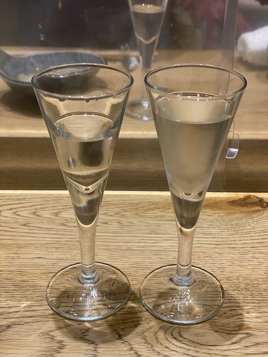 test ツイッターメディア - 而今が愛山で初めて仕込んだ日本酒の飲み比べしたよ。 2011年仕込みと2017年。 他に2017年の飛露喜はイメージ苔でした。 肴は名残りはも  大人の遊びに夢中💕  #日本酒を嗜む会 #而今 #飛露喜 https://t.co/MegPdO0JT8
