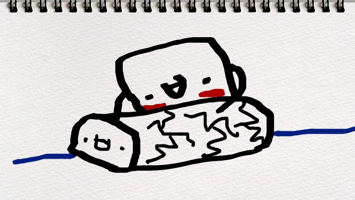 test ツイッターメディア - @seia_f わ〜い、むにむにさんが無事に小城羊羹を食されたことを寿ぎましてようかんに頬ずりします! https://t.co/liUnW6Zfvl