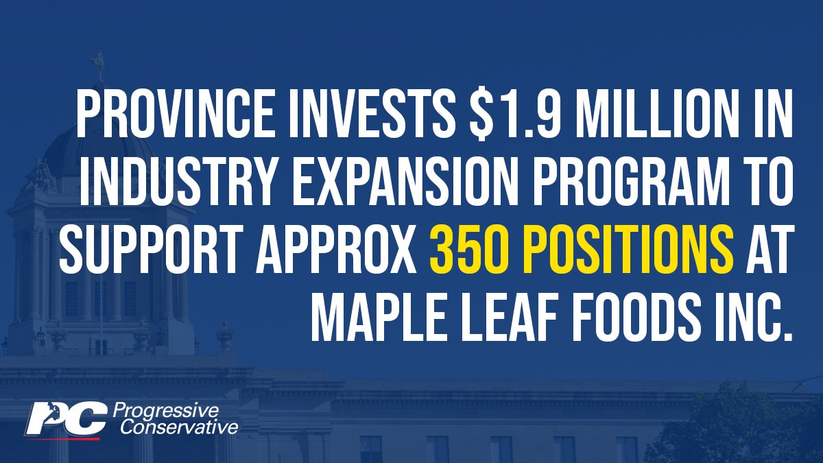test Twitter Media - Maple Leaf Foods is a global leader in food and protein processing, and this investment builds on our PC government's protein strategy.   Learn more: https://t.co/QE9lR11BRz  #mbpoli https://t.co/Z7F7KwdM9L