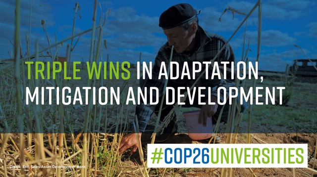 test Twitter Media - The new #COP26Universities briefing explores how climate action can be designed to bring 'triple wins' for adaptation, mitigation and development.  Colleagues Dr @fngarachu and Prof @justinosheff contributed as co-authors.   Read here: https://t.co/UikTEFcKUL https://t.co/R9FP8isBAm