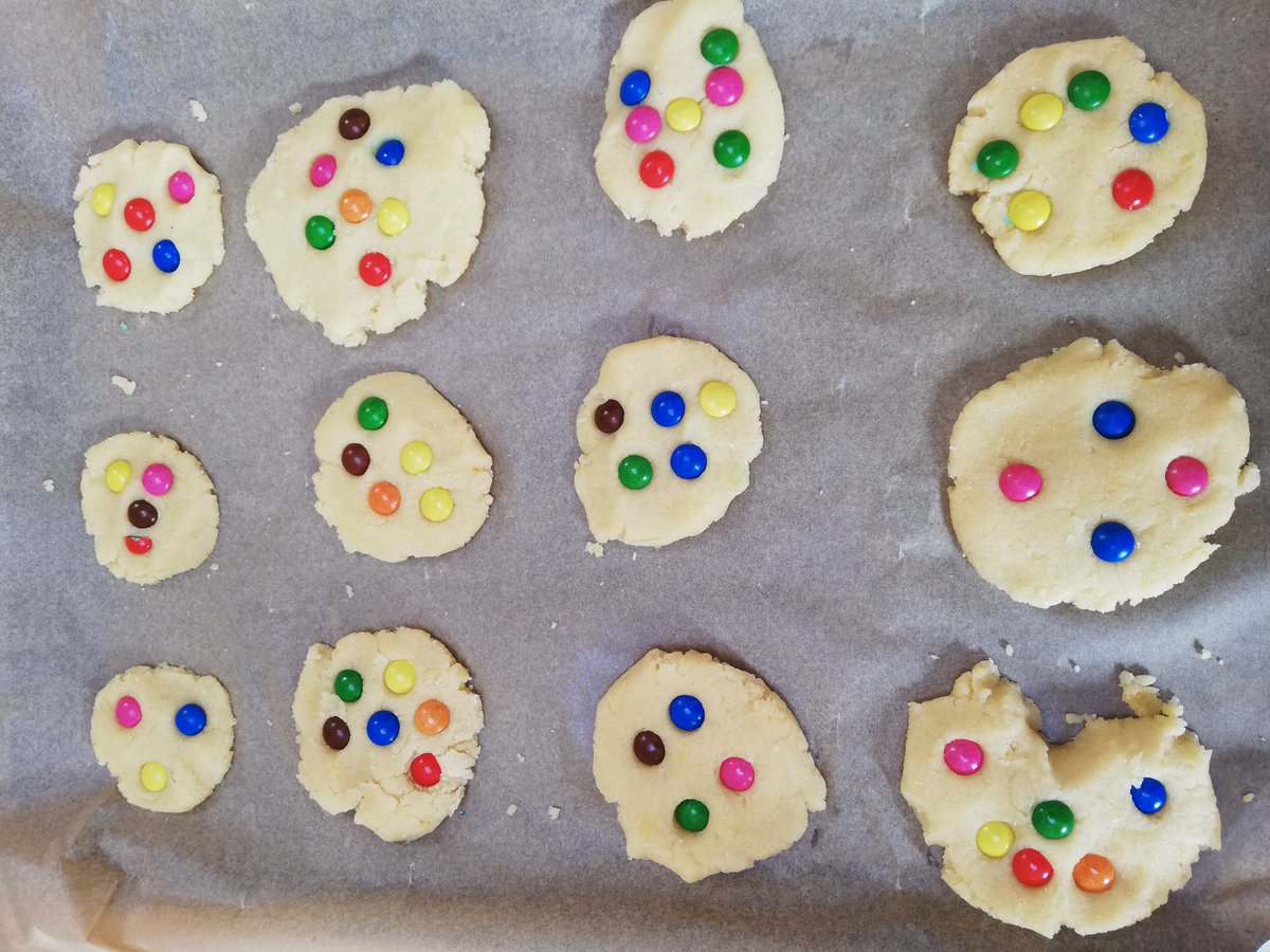test Twitter Media - Is anyone baking this weekend? Can you find the maths in this? Look at each cookie and tell me about the smarties. On one cookie I could see 6 smarties and I saw that as a 4 and a 2. What do you see? How do you see it? https://t.co/9FXZ1g5iCy