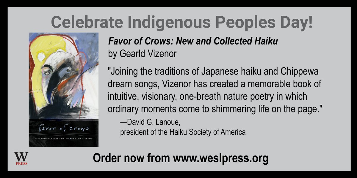 test Twitter Media - Celebrate Indigenous Peoples Day everyday by reading Indigenous literature. Did you know Chippewa author Gerald Vizenor is 2021–22 honorary curator of the American Haiku Archives? https://t.co/Mbu23OxLY2 #IndigenousPeoplesDay #Survivance #Haiku #DreamSongs #americanhaikuarchives https://t.co/Q5Bk0jyPAV