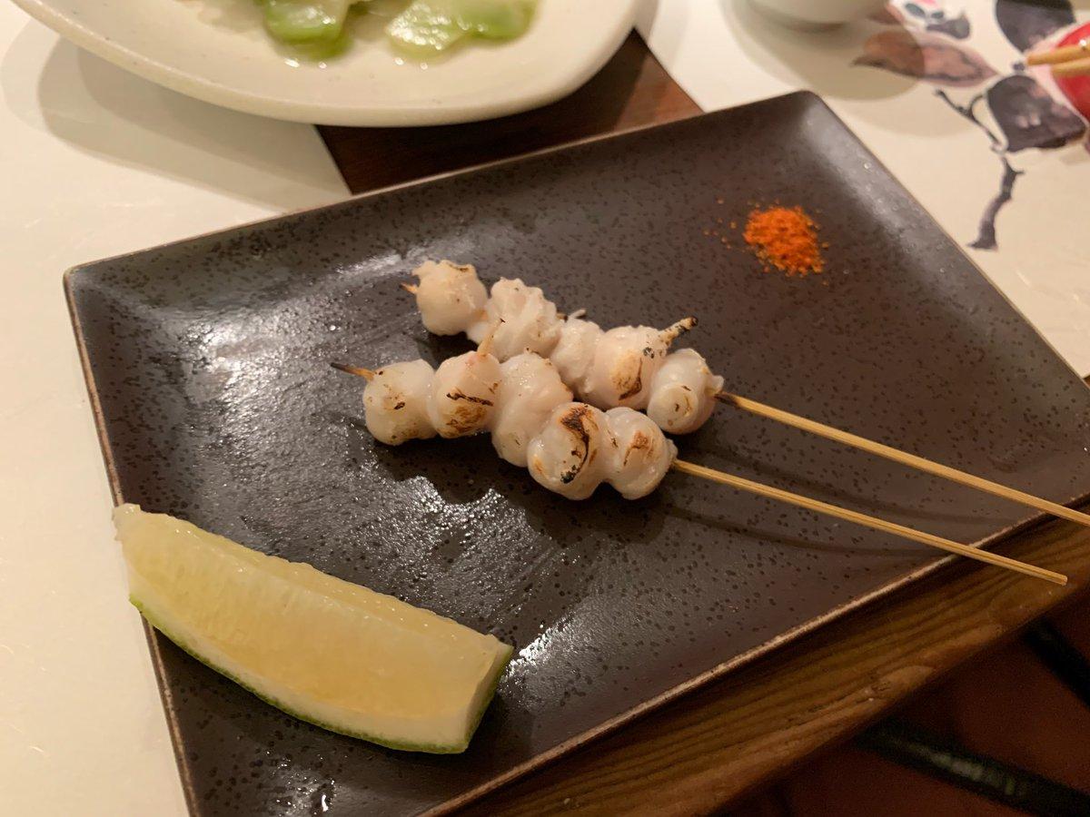 test ツイッターメディア - 金夜は寿司 昨日はとにかく、生いかが美味い日でした。塩とすだちでいただいた  中トロと穴子もなかなか美味い 赤貝は調子が良くなかった...  サービスでもらったいかの口びる?の串焼きも食感初体験な感じで楽し旨し  日本酒は王録と立山、あとは忘れた... 立山なかなか好き  新政no6は無くて飲めず https://t.co/aWbkbBk4vs