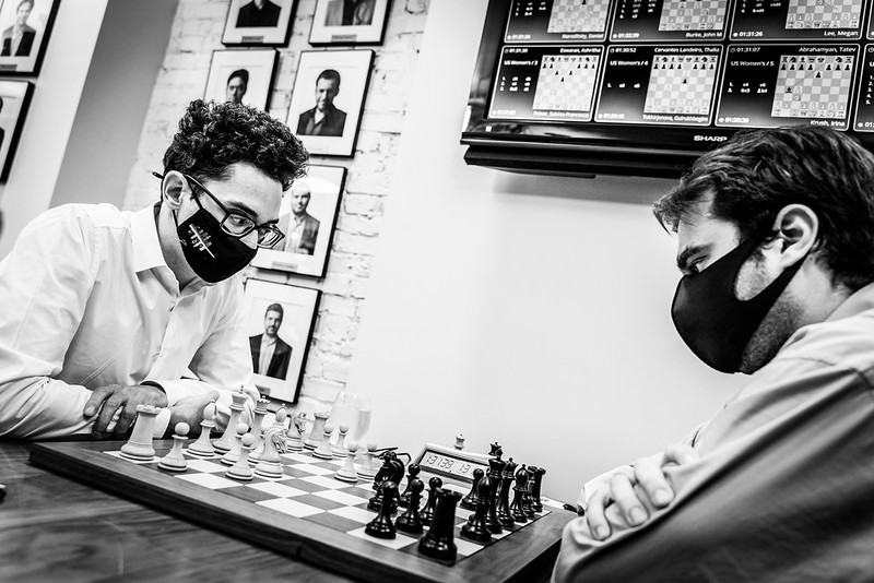 test Twitter Media - Fabiano Caruana came very close to winning the #USChessChamps yesterday with a stunning 4.5/5 finish, but Sam Shankland held on and now we have a 3-playoff coming up with Fabi, Wesley So and Sam Sevian! Report:  https://t.co/tKBS6W3iMd  #c24live https://t.co/bq4VRAz59e