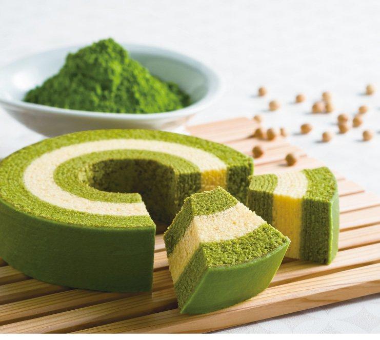 test ツイッターメディア - 京都の人気のお土産で抹茶好きには堪らない、しっとりと豆乳と抹茶の優しい甘さがクセになるバームクーヘン、『京ばあむ』をオススメします!!😊#くまがみお菓地 https://t.co/pd4w3tajzT