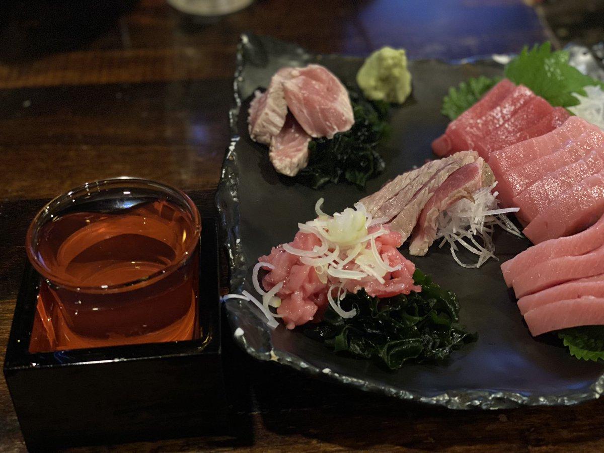 test ツイッターメディア - やっと神田のマグロと日本酒が美味しいお店が開きました。 これは特別純米の田酒ですが何と一合500円です。 しっかりと飲んでお金を使いたいと思います。 いただきます🙏🍶 https://t.co/4zzZx2dmY2