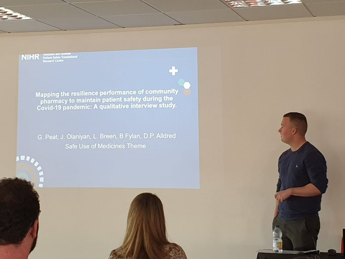 The afternoon session has started with presentations from   _Sattar and Owen Johnson on Innovati....