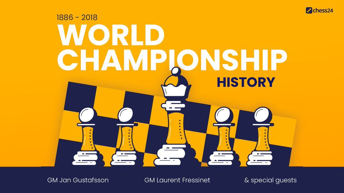 test Twitter Media - New video series! chess24's @GMJanGustafsson and @FressinetL dissect all of the World Championship matches from 1886 all the way to 2018. Learn more: https://t.co/YB2RIhDPun https://t.co/gCxAJrcXk7
