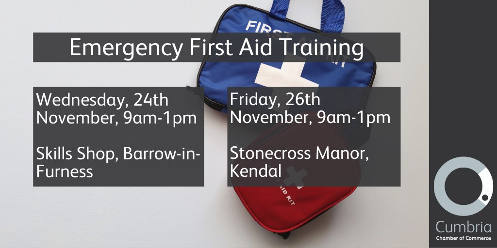 test Twitter Media - We have Emergency First Aid Training coming up in November!  - Wednesday, 24th November - Barrow-in-Furness https://t.co/6EZBO6DyOE - Friday, 26th November - Kendal https://t.co/ahjXWJs4av https://t.co/qLkzPTsJTw