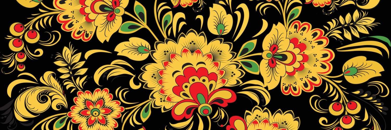 Роспись желтое с цветами это