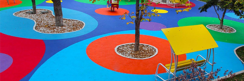 Как сделать покрытие для детской площадки 577
