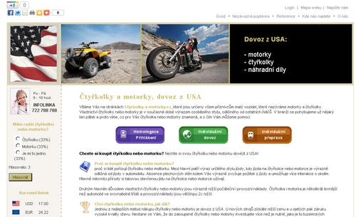 Čtyřkolky a motorky