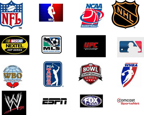 Sports team logos with names