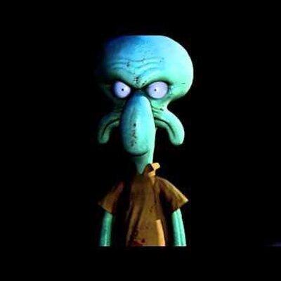 Scared squidward