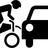 Bike car accident graphic normal