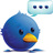 Twitter fat bird icon normal