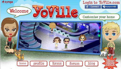 YoVille Social Profile