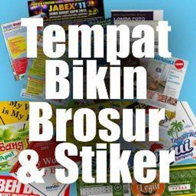 Cetak Brosur Stiker Cetakstiker Twitter