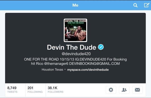 FOLLOW @devindude420 Social Profile