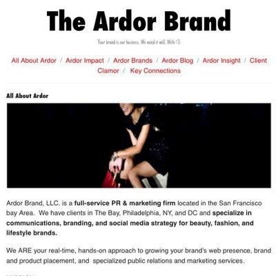 The Ardor Brand | Social Profile
