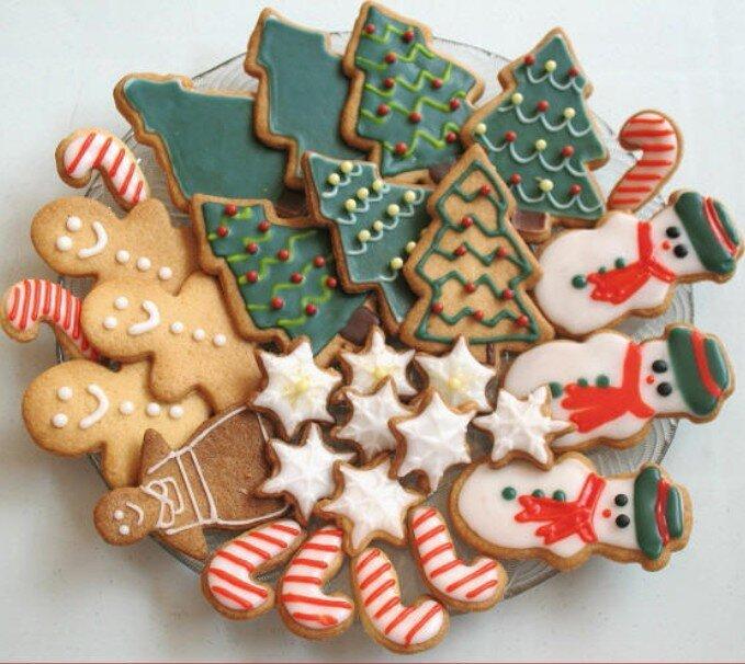 Новогоднее печенье в глазури рецепт