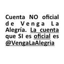 Cuenta NO oficial (@Venga_Alegria) Twitter