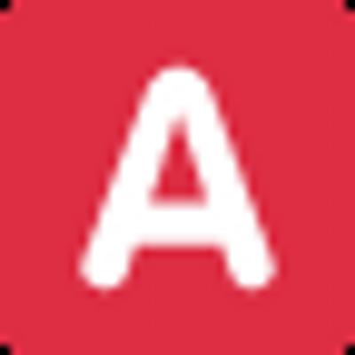 Красный логотип с белой буквой к