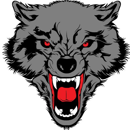 Рисунок волчьей морды