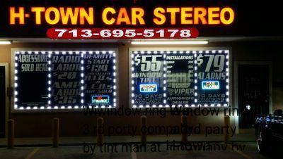 H town car stereo