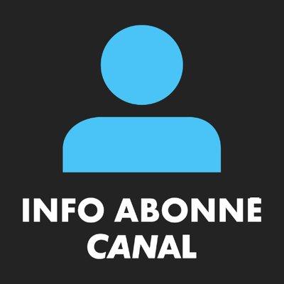 INFO ABONNE CANAL | Social Profile