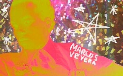 Neon Graffiti Social Profile