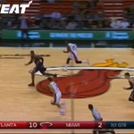 GIF: Goran goes behind-the-back to Wade on the break! http://t.co/6d192jSqE4