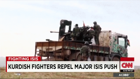 RT @AC360: #Kurdish fighters outgunned while taking on #ISIS armed with  stolen American equipment  - @benCNN reports on #AC360 http://t.co/3DIYAviT0P
