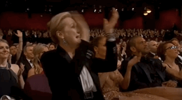 Life goals: Say something that makes Meryl Streep and J.Lo react like this #oscars http://t.co/YnPbSMfI4U