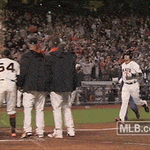 Its a walkoff! Courtesy of #BusterPosey #FaceOfMLB http://t.co/fOjOqWCArx