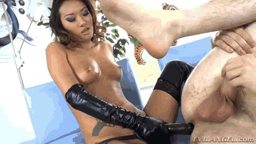 Busty brunette forced sex video