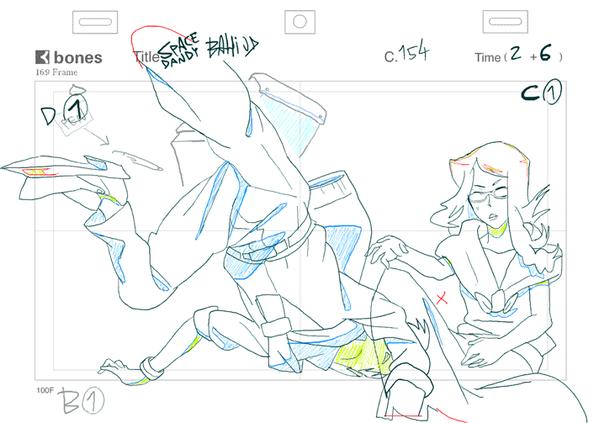 スペース☆ダンディep.# 23の原画 (c154)