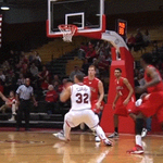 GIF! Admire this 3-pointer Soph @MaristAthletics Khallid Hart @Hart_to_guard5)! #MAAChoops #GoRedFoxes http://t.co/aoCItWUTng