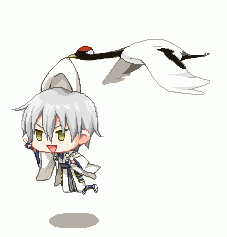空飛ぶ鶴丸も作ってみた。 http://t.co/tYLD6btIgi