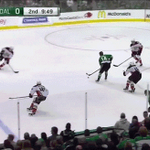 SAVE GIF: @JohnGibson35 sraight up robs Spezza in front. #ANAvsDAL http://t.co/IdO4BmitLP