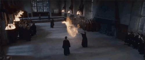 BEST HOGWARTS DUEL EVER!! Snape vs Prof. McGonagall #PotterheadWeekend http://t.co/6ftnXVNp1S