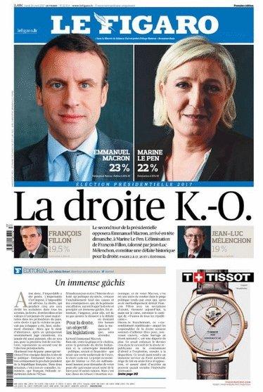 #Presidentielle2017 Les unes des quotidiens français ce lundi #AFP