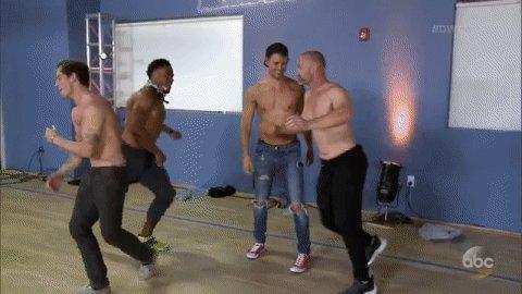 Umm.... go boys!?!?#TeamBoyBand @viallnicholas28, @bonner_bolton, @D_Ross3 &@RashadJennings! @DancingABC #DWTS