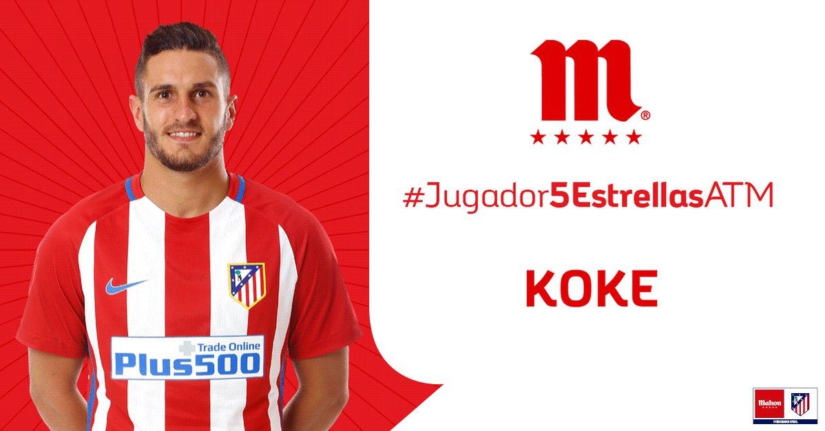 RT o Me Gusta si crees que Koke ha sido el #Jugador5EstrellasATM del @Atleti en el partido ante el Villarreal.