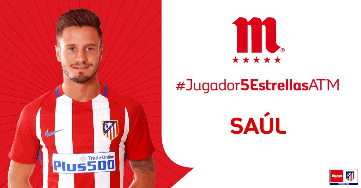 RT o Me Gusta si crees que Saúl ha sido el #Jugador5EstrellasATM del @Atleti en el partido ante el Villarreal.