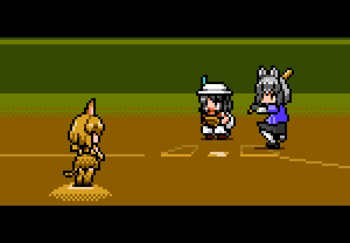 けものフレンズ  新生けものフレンズアプリ版は野球説ドットです  #ドット絵 #edgetouch #けものフレンズ