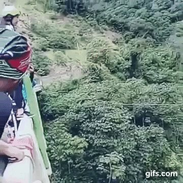 Bungee jump fail Horrifying moment woman smashes into riverbed caught on video