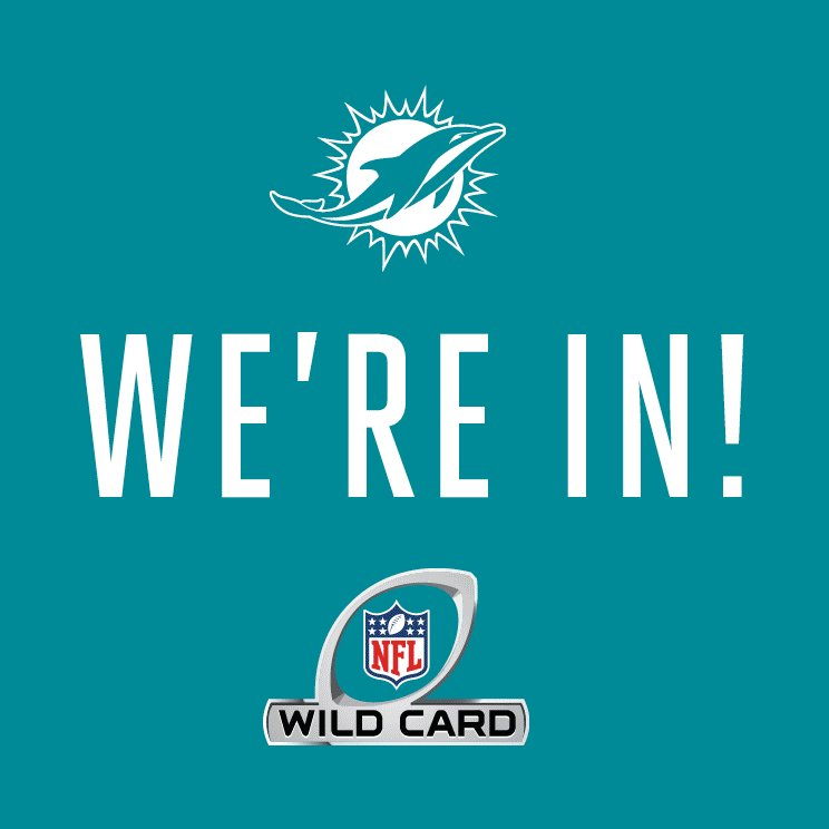WE'RE IN!!  PLAYOFFS = CLINCHED!   #FinsUp https://t.co/bRHei9OA4a
